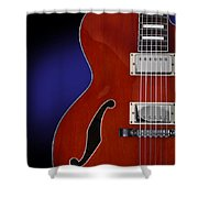 Ibanez Af75 Hollowbody Electric Guitar Front View Shower Curtain