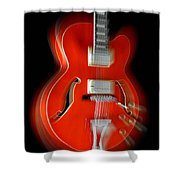 Ibanez Af75 Hollowbody Electric Guitar Zoom Shower Curtain