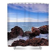 Ibiza Coastline Shower Curtain