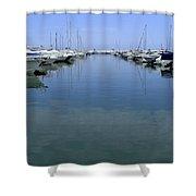 Ibiza Harbour Shower Curtain