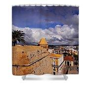 Ibiza Town Walls Shower Curtain