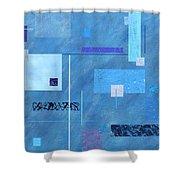 iBlue Shower Curtain