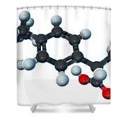 Ibuprofen, Molecular Model Shower Curtain