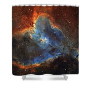 Ic 1805, The Heart Nebula In Cassiopeia Shower Curtain
