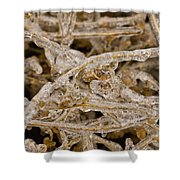 Ice Abstract II Shower Curtain