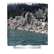 Ice Along The River Shower Curtain