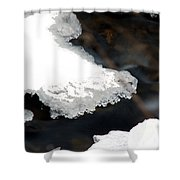 Ice And Water Shower Curtain