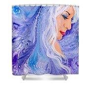 Ice Angel Shower Curtain