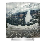 1m3545-01-ice Avalanche On Mt. Victoria Shower Curtain