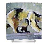 Ice Bear Shower Curtain by Mark Adlington