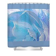 Ice Blue Amaryllis Abstract Shower Curtain