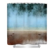 Ice Blue And Steamy Shower Curtain