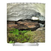 Ice Cave At The Mountains Shower Curtain