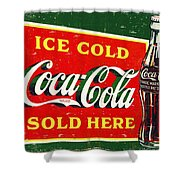 Ice Cold Coca-cola Sold Here Shower Curtain