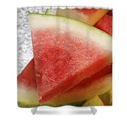 Ice Cold Watermelon Slices 1 Shower Curtain by Andee Design