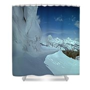 1m9340-ice Cornices, Jackson Hole Shower Curtain