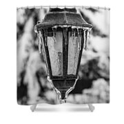 Ice Covered Lantern Shower Curtain