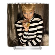 Ice Cream Dream Girl  Shower Curtain