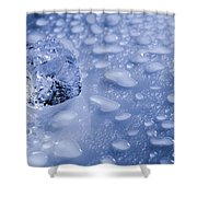 Ice Cube With Copyspace Shower Curtain