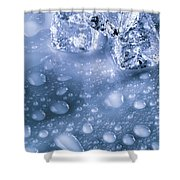 Ice Cubes With Copyspace Shower Curtain