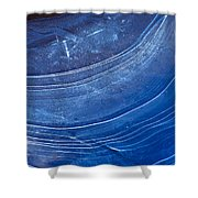Ice Curve In Blue Shower Curtain