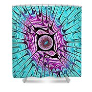 Ice Dragon Eye Shower Curtain