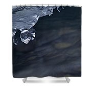 Ice Drop Shower Curtain