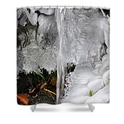 Ice Fall Shower Curtain