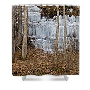 Ice Falls Shower Curtain