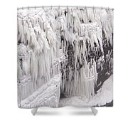 Ice Feathers 2 Shower Curtain