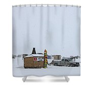 Ice Fishing Derby 2 Shower Curtain