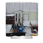 Ice Fishing Derby 6 Shower Curtain