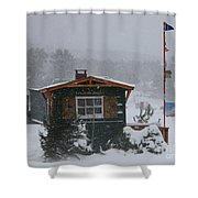 Ice Fishing Derby 7 Shower Curtain