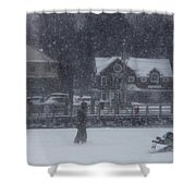 Ice Fishing Derby 9 Shower Curtain