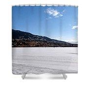 Ice Fishing On Wood Lake Shower Curtain