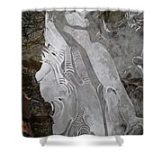 Ice Flow 1 Shower Curtain
