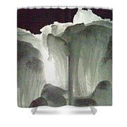Ice Flow 10 Shower Curtain