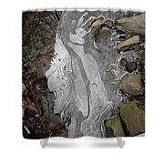 Ice Flow 2 Shower Curtain