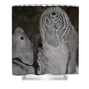 Ice Flow 5 Shower Curtain