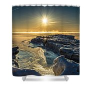 Ice Flow Shower Curtain