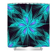 Ice Flower Shower Curtain