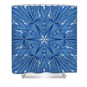 Ice Flower Fractal Shower Curtain