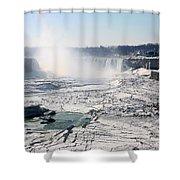 Ice Flows At Niagara Shower Curtain