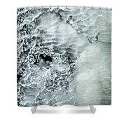 Ice Formations X Shower Curtain