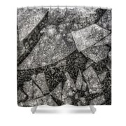 Ice Fractal Shower Curtain