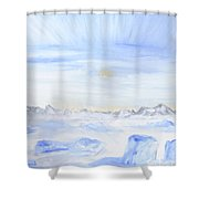 Ice Movement Shower Curtain