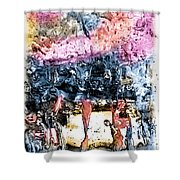 Ice Number Four Shower Curtain