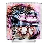 Ice Number Three Shower Curtain by Bob Orsillo