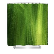 Ice On A Window With Light Painting That's Green Shower Curtain
