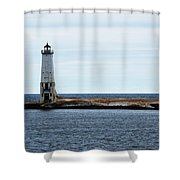 Ice On Pier Shower Curtain